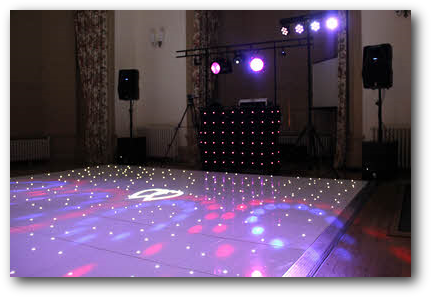 LED starlight dance floor | Brownlow House